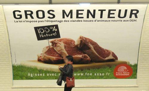 métro Odéon affiche Agriculture environnement 7723