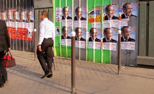 affiche élection présidentielle Bayrou Mélanchon Holland