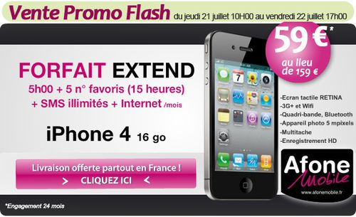 vente promo flash iphone 4 ne pas rater le blog bon plan mobile bon plan smartphone et. Black Bedroom Furniture Sets. Home Design Ideas