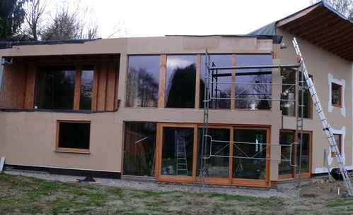merc 2411 pose panneaux Inthermo facade Sud-Ouest