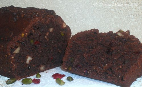 cake chocolat fruit sec et cramberrie