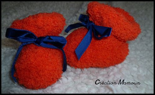 chaussons doux orange 1