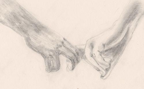 Dessin au crayon main dans la main les dessins de laure - Dessin de la main ...