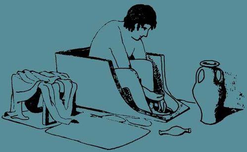 907f3b selon le musée d'Arta, la baignoire antique