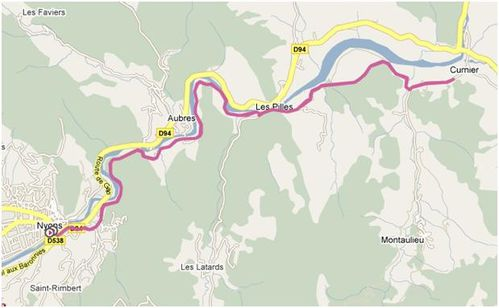 parcours nyons curnier