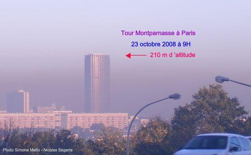 photo pollution à Paris Tour Montparnasse