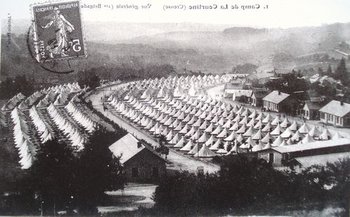 Tentes, Camp de la Courtine, 1910