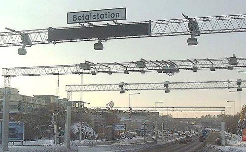 Frontière-Péage-urbain-Tollstation Liljeholmen Stockholm