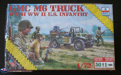 esci 8610 - GMC M6 truck with US infantry