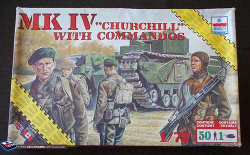 esci 8625 - MK IV Churchill with commandos