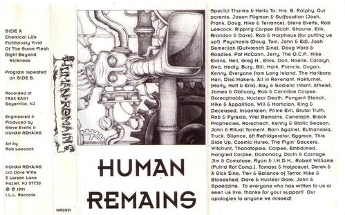 Human Remains - Cover