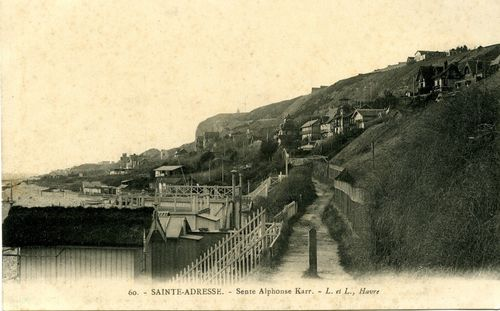 Sainte-Adresse-Sente-Alphonse-Karr-CP-Collection-Dyonisiens