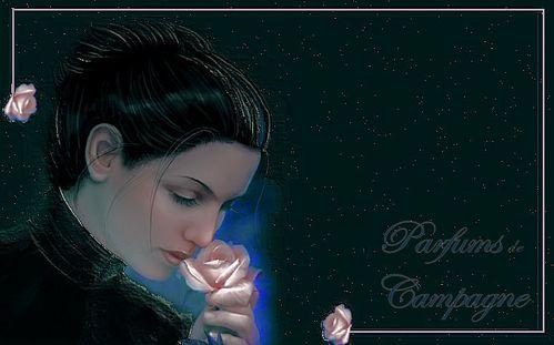 femme fleurs