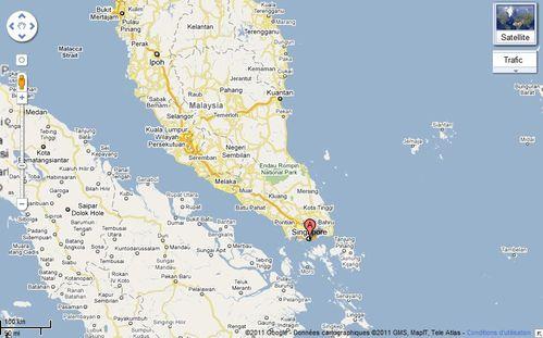 Singapour Map