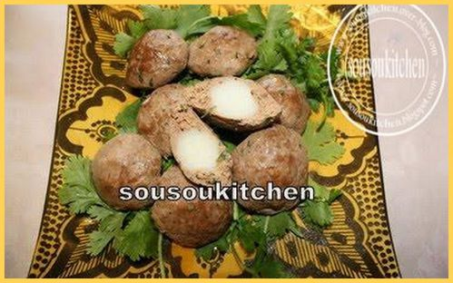Viande farcie Recette de Choumicha & Légumes grillés
