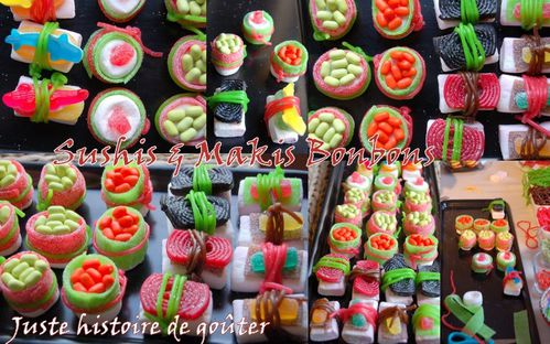 sushis & makis bonbons