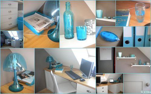Déco: Taupe et bleu pour un bureau d\'amoureux - C-cilou et ...