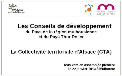 Avis Conseils de développement Mulhouse Thur Doller