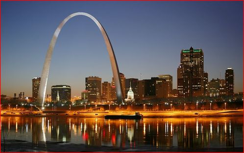 saint louis missouri miles