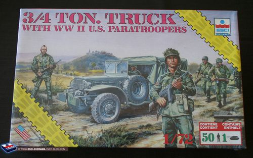 esci 8609 - 3-4 ton truck with US Paratroopers