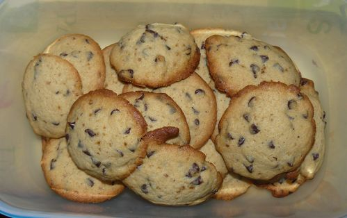 biscuits tendres pépite chocolat
