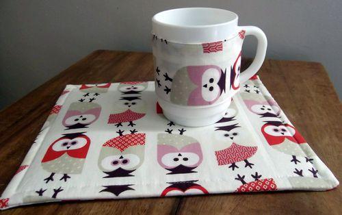 Mug Rug Hiboux