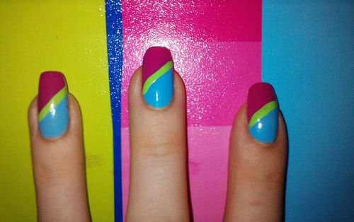 Pink And Blue Nail Designs Nail Designs Hair Styles Tattoos And