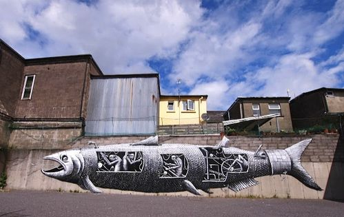 Phlegm poisson street-art