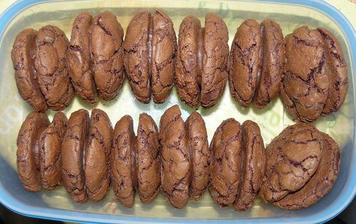 faux macarons au chocolat
