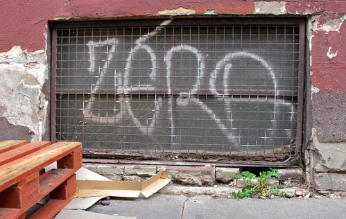 Street-art message zéro 4