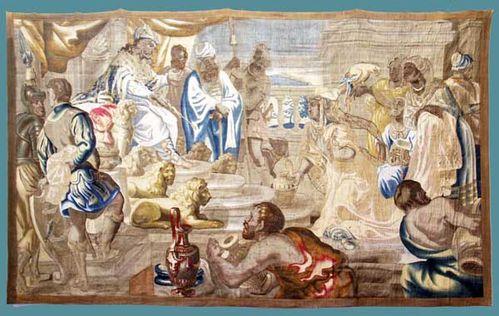 924i3 Dons à Salomon (tapisserie flamande, 16e s.)