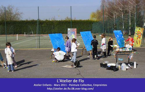 Flo L'Atelier de Flo peinture aquatique empreintes BLOG 1