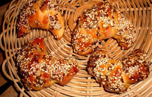 mini croissants briochés multi céréales