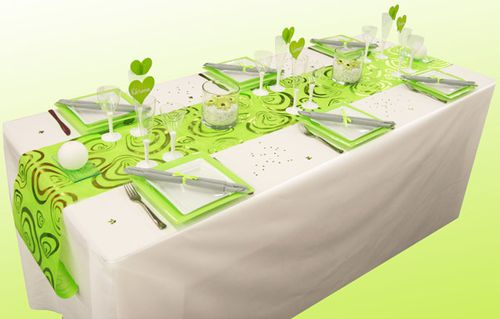 Table vert anis et blanche dining art de la table pinterest - Pinterest deco table ...