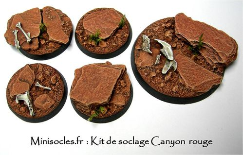 Kit socle figurines canyon rouge étape 20
