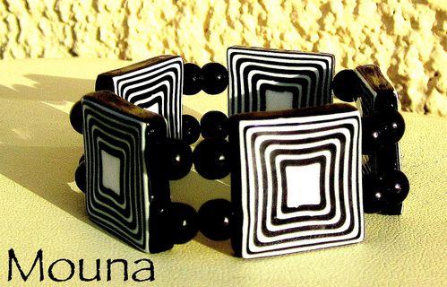 Bracelet Black and white 4 DISPONIBLE: 20 euros.