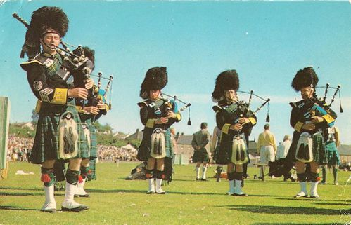 Cartes postales les écossais