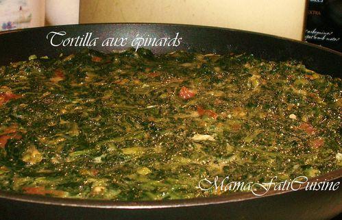 Tortilla « Norma » aux épinards