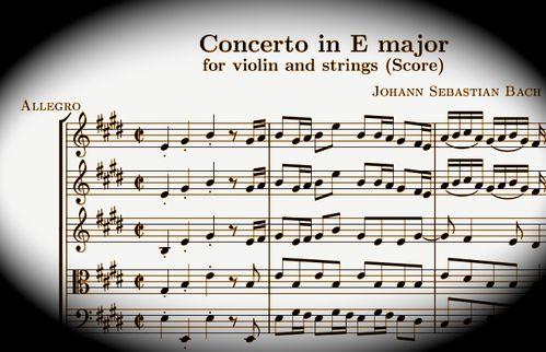 bach concerto en Mi pour violon