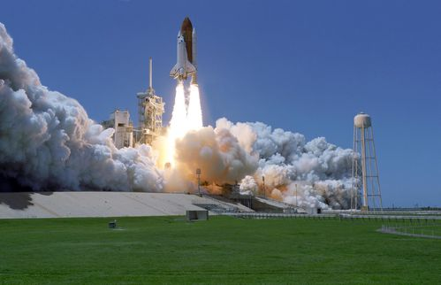 nasa space shuttle launch only pic