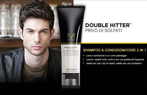 double hitter,Paul Mitchell, Sulfate Free, cosmetici uomo,