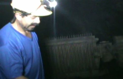 an unidentified trapped miner Chile, Wednesday Sept. 29,