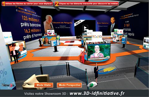 ile de france idf initiative showroom 3d by new3s be 3D web