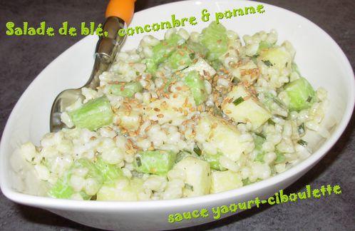 Salade blé, concombre, pomme3
