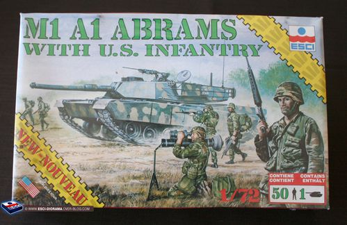 esci 8602 - M1 A1 Abrams with US infantry