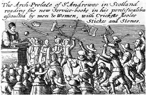 Riot against Anglican prayer book 1637