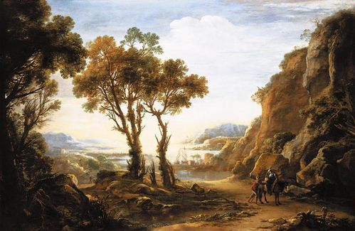 Salvator Rosa - Evening Landscape - WGA20046