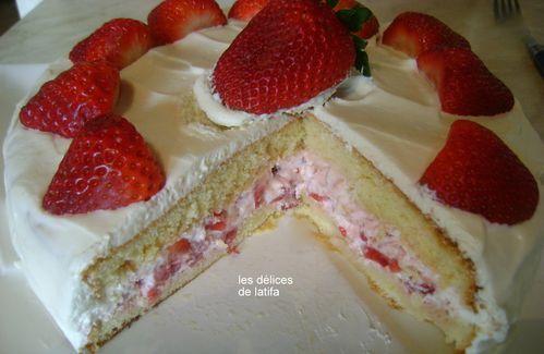 Recette gateau aux fraises facile