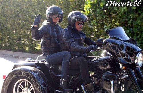 Johnny Hallyday Takes Wife Laeticia On A Motorcycl-copie-1