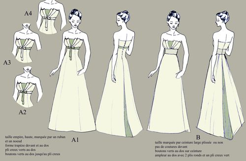 robe mariée Maia 0 croquis